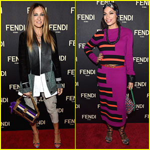 Sarah Jessica Parker & Rosario Dawson Show Their Support at Fendi's NYC Flagship Store