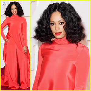 Solange Knowles Hits the Oscars 2015 Red Carpet Ahead of Governors Ball After Party Gig!
