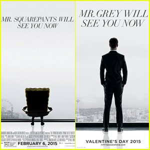 'SpongeBob Movie' Parodies 'Fifty Shades of Grey,' 'Jurassic World,' & 'Terminator: Genisys' in New Posters
