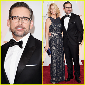 Steve Carell & Wife Nancy Hit the Oscars 2015 Red Carpet Together!
