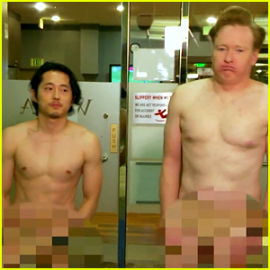 Walking Dead's Steven Yeun Gets Naked at Korean Spa on 'Conan'