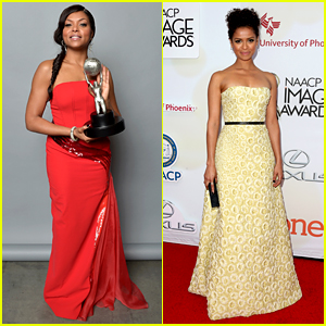 Taraji P. Henson & Gugu Mbatha-Raw Are Picture Perfect at NAACP Image Awards 2015