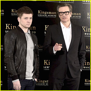 Taron Egerton & Colin Firth Take 'Kingsman' to Madrid