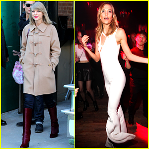 Taylor Swift Karlie Kloss Play Vogue S Best Best Friends Game Karlie Kloss Nile Rodgers Taylor Swift Just Jared