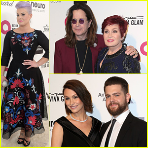 The Osbournes Attend Elton John's Oscar 2015 Party Together!