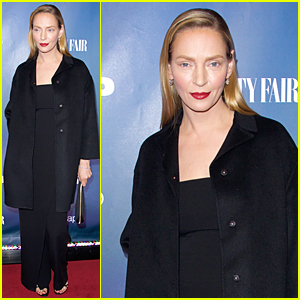 Uma Thurman Shows Off a New Look at 'The Slap' Premiere