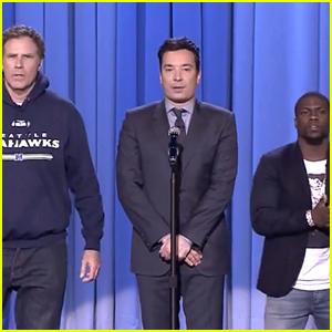 Will Ferrell & Kevin Hart's Epic Lip Sync Battle on 'Fallon' (Video)