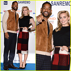 Will Smith & Margot Robbie Spend Valentine's Day Together in Italy