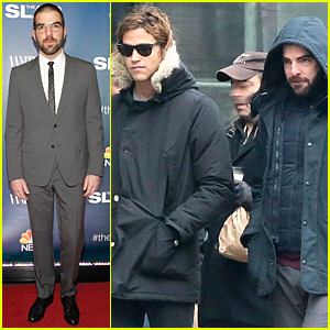Zachary Quinto & Miles McMillan Walk the Dogs Together Ahead of 'The Slap' Premiere