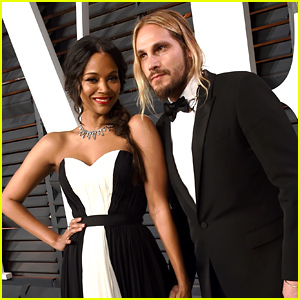 Zoe Saldana & Marco Perego Look Picture Perfect at Vanity Fair's Oscars 2015 Party