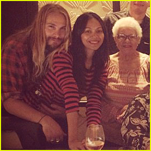Zoe Saldana Shows Off Post-Baby Body at Mom Asalia's Birthday Celebration
