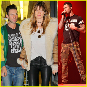 Adam Levine Goes Shopping with Wife Behati Prinsloo Ahead of 'V' Tour Stop at Madison Square Garden!