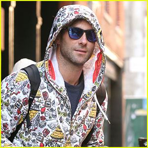 Adam Levine Rocks Two Very Different Patterns Before Last NYC Show