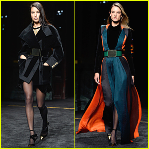 Adriana Lima & Alessandra Ambrosio Work the Catwalk at Balmain Fashion Show