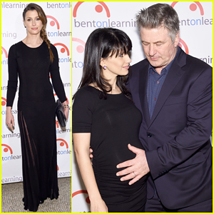 Alec & Hilaria Baldwin Debut Baby Bump at Bent On Learning Inspire Gala 2015!