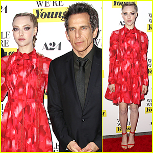 Amanda Seyfried Looks Red Hot at 'While We're Young' NYC Premiere