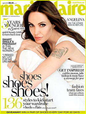 Angelina Jolie Covers 'Marie Claire Australia' April 2015