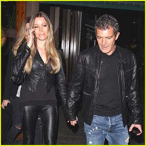 Antonio Banderas & Girlfriend Nicole Kimpel Make It a Date Night