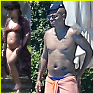 Ashlee Simpson Shows Off Bare Baby Bump in a Bikini While Vacationing in Mexico With Shirtless Evan Ross