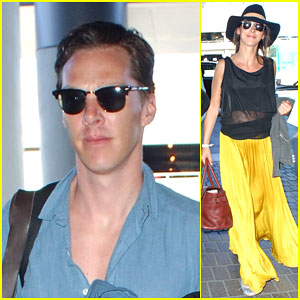 Benedict Cumberbatch & Sophie Hunter Spend Their Honeymoon in Tahiti