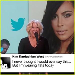 Bette Midler Sings Kim Kardashian's Famous Tweets - Watch Now!