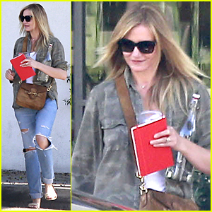 Cameron Diaz Gets Her Hair Done in Beverly Hills