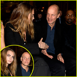 Cara Delevingne Sits with Woody Harrelson at Stella McCartney's Show