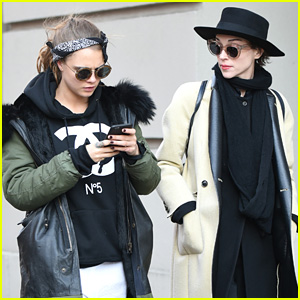 Cara Delevingne & Rumored Girlfriend St. Vincent Shop in SoHo