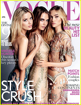Cara Delevingne & Suki Waterhouse Cover 'Vogue UK' with Georgia May Jagger!