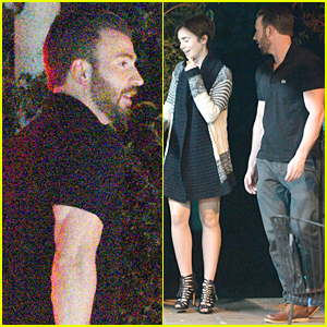Chris Evans & Lily Collins Pictured Together on Romantic Date Night!