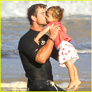 Chris Hemsworth Kisses Daughter India in Adorable New Photo