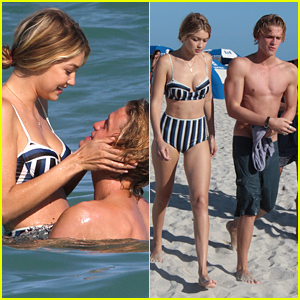 Gigi Hadid & Cody Simpson Pack on the PDA, Look Too Cute Together in Miami