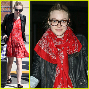 Dakota Fanning Returns from Her Belated Vegas 21st Birthday Trip
