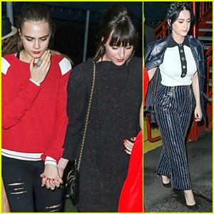 Dakota Johnson & Cara Delevingne Hold Hands at Karl Lagerfeld's Yacht Party