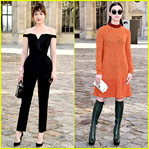 Dakota Johnson Channels Sandy from 'Grease' at Dior Show