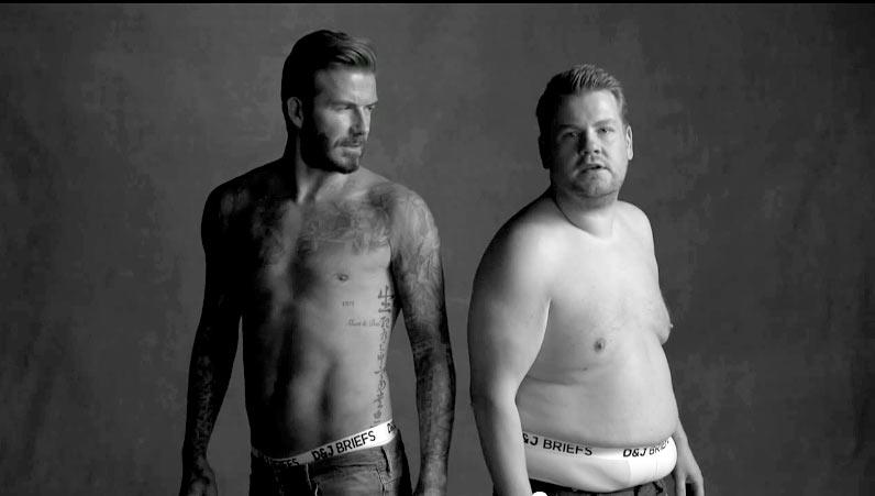 David Beckham launching underwear line
