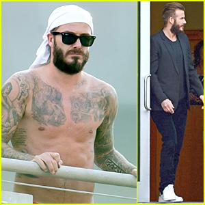 Shirtless David Beckham Is Smoldering Hot in Miami