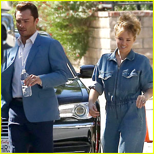 Ed Westwick & Erika Christensen Start Filming New TV Show 'L.A. Crime'