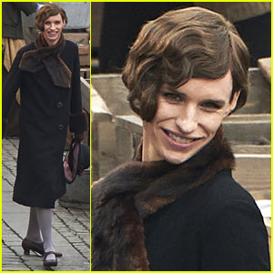 Eddie Redmayne Dresses Up for His Transgender Movie Role