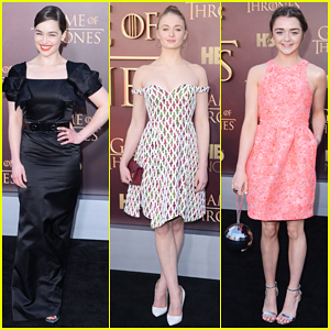 Emilia Clarke, Sophie Turner, & 'Game of Thrones' Ladies Get Glam for San Francisco Premiere!
