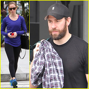 Emily Blunt & John Krasinski Work Out Seperately
