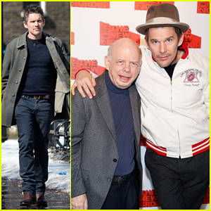 Ethan Hawke Films 'Maggie's Plan' with Greta Gerwig Ahead of New Group Gala 2015!
