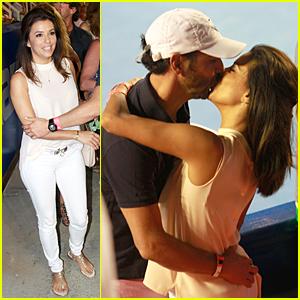 Eva Longoria & Jose Antonio Baston Kiss Passionately at Mexican Open