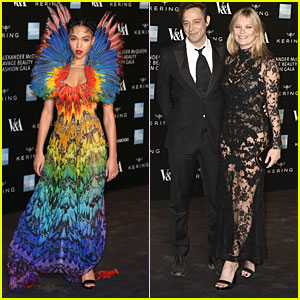 FKA Twigs Goes Colorful & Kate Moss Goes Sheer For 'Alexander McQueen: Savage Beauty' Gala