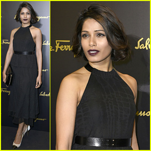 Freida Pinto Is Just Perfect at Salvatore Ferragamo's Milan Show