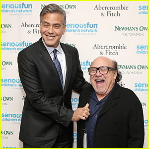 George Clooney Towers Over Danny DeVito at SeriousFun Gala