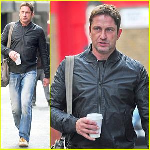 Gerard Butler Explores the City Before 'London Has Fallen' Filming