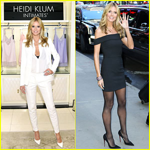 Heidi Klum Heads to the Big Apple to Launch Her Lingerie Line