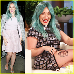 Hilary Duff Talks Dying Her Hair Turquoise Blue - Watch Here!