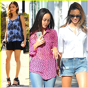 Jamie Chung & Cara Santana Meet Up For Girls Shopping Trip